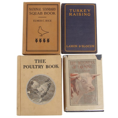 "1914 ""The Business of Farming"" with Books on Poultry"