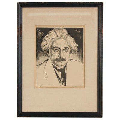 "Photogravure after Saul Raskin ""Prof. Albert Einstein"", Mid-20th Century"