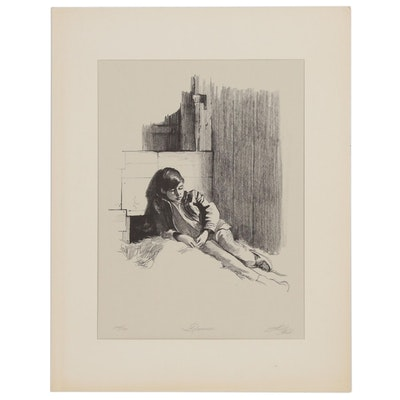 "Sheldon Fink Lithograph ""Dreamer,"" 20th Century"