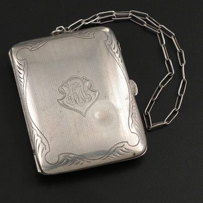 W. H. Saart Co. Sterling Silver Coin Purse Wristlet, Early 20th Century