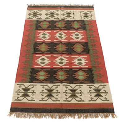 5'2 x 8'8 Handwoven Indo-Turkish Kilim Rug
