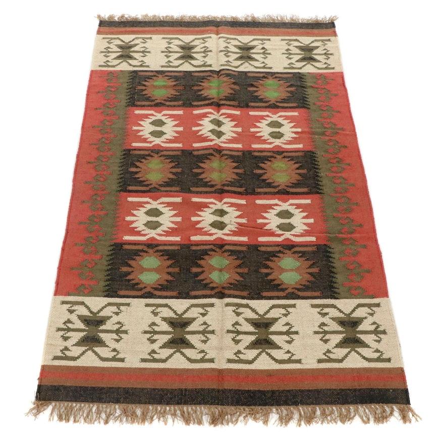 5'2 x 8'8 Handwoven Indo-Turkish Kilim Rug