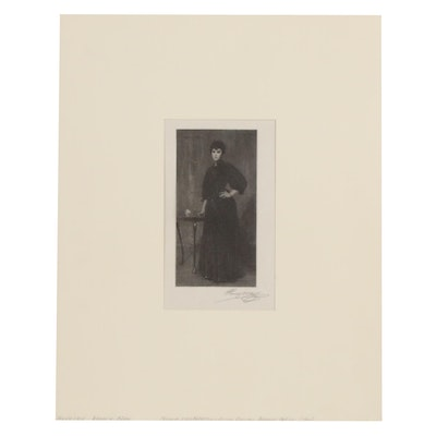 "Henry Wolf Lithograph ""Woman in Black,"" 20th Century"