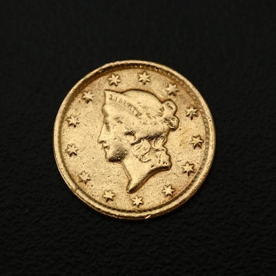 1853-O Liberty Head Type I Gold Dollar