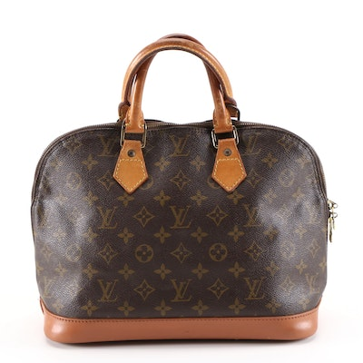 Refurbished Louis Vuitton Alma Top Handle Bag in Monogram Canvas