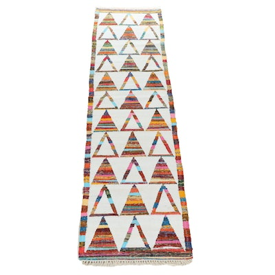 2'8 x 10'2 Handwoven Turkish Kilim Cotton and Wool Runner Rug
