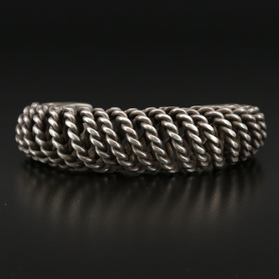 Hill Tribe Sterling Silver Spiral Cuff