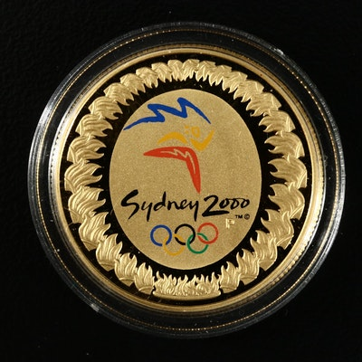 2000-P Australia $100 Sydney Olympics Commemorative Proof Gold Coin