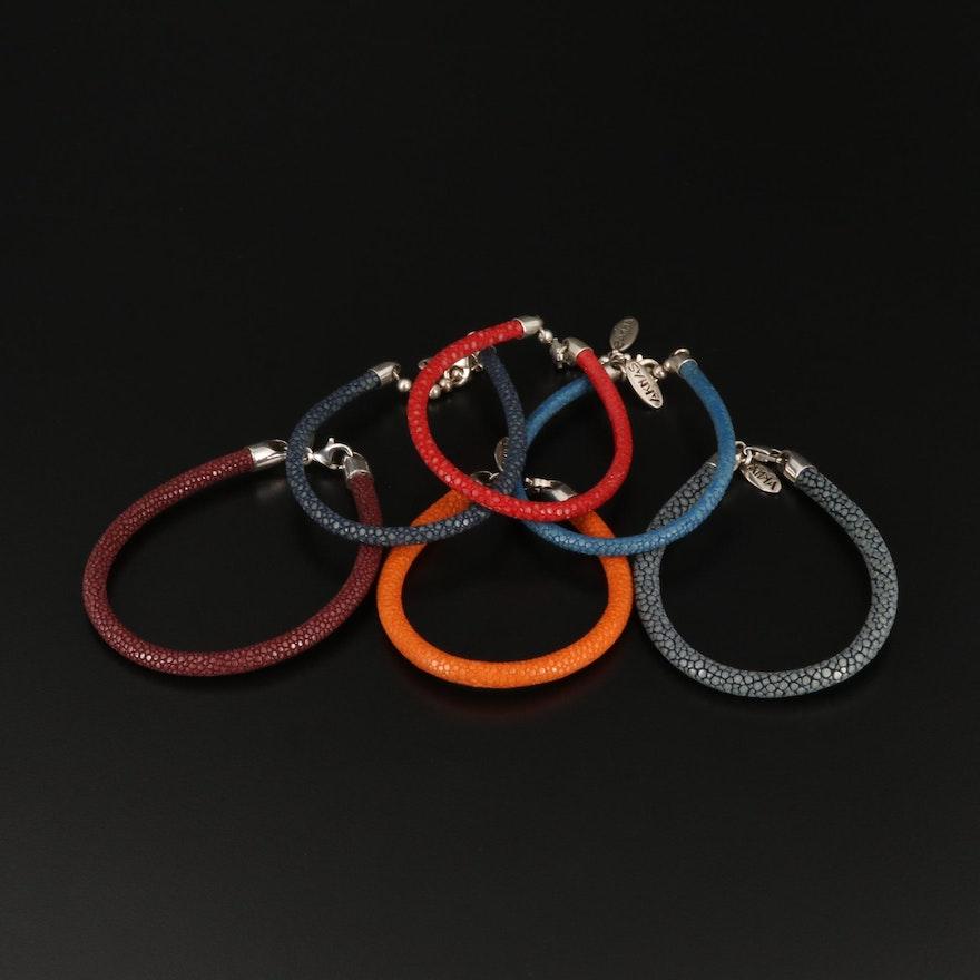 Aknas Sterling Silver Stingray Bracelets