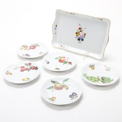 "Philippe Deshoulières ""Fruits"" Plates and ""Winterthur Interpretation"" Tray"