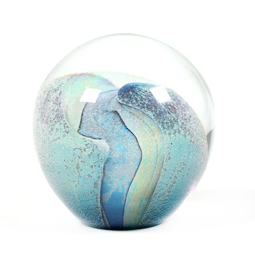 Robert Eickholt Art Glass Paperweight, 1998
