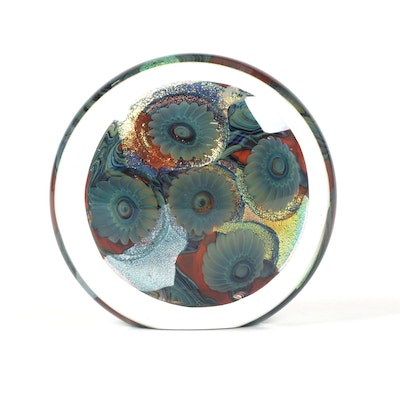 Robert Eickholt Handblown Art Glass Paperweight, 2005