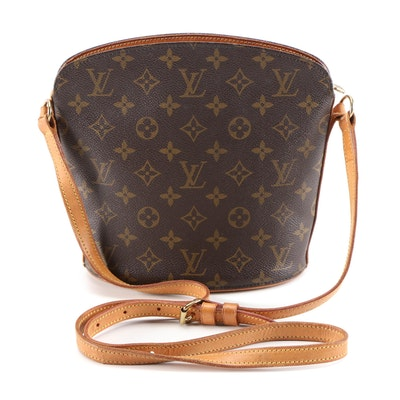 Refurbished Louis Vuitton Drouot Crossbody in Monogram Canvas and Leather