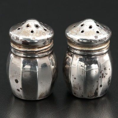 Pair of V. Lollo Individual Sterling Silver Salt and Pepper Shakers