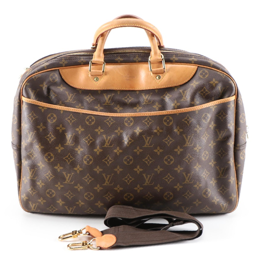 Louis Vuitton Alize 24 Heures Soft Suitcase in Monogram Canvas and Leather