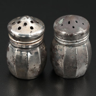 V. Lollo and Elgin Individual Sterling Silver Salt and Pepper Shakers
