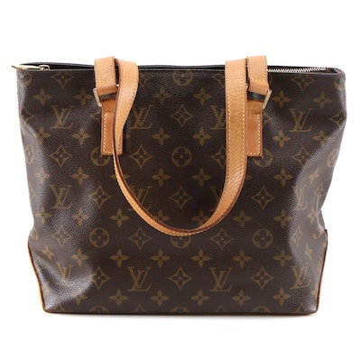 Louis Vuitton Cabas Piano Tote Bag in Monogram Canvas and Vachetta Leather