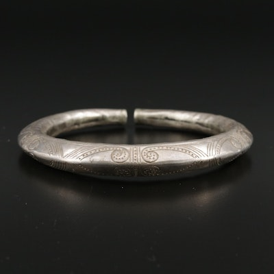 Thai Hill Tribe Style Sterling Silver Bracelet