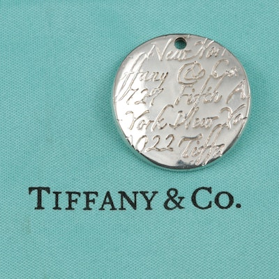 Tiffany & Co. Sterling Silver Bracelet Tag Charm