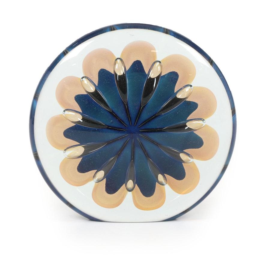 Robert Eickholt Handblown Art Glass Paperweight, 2008