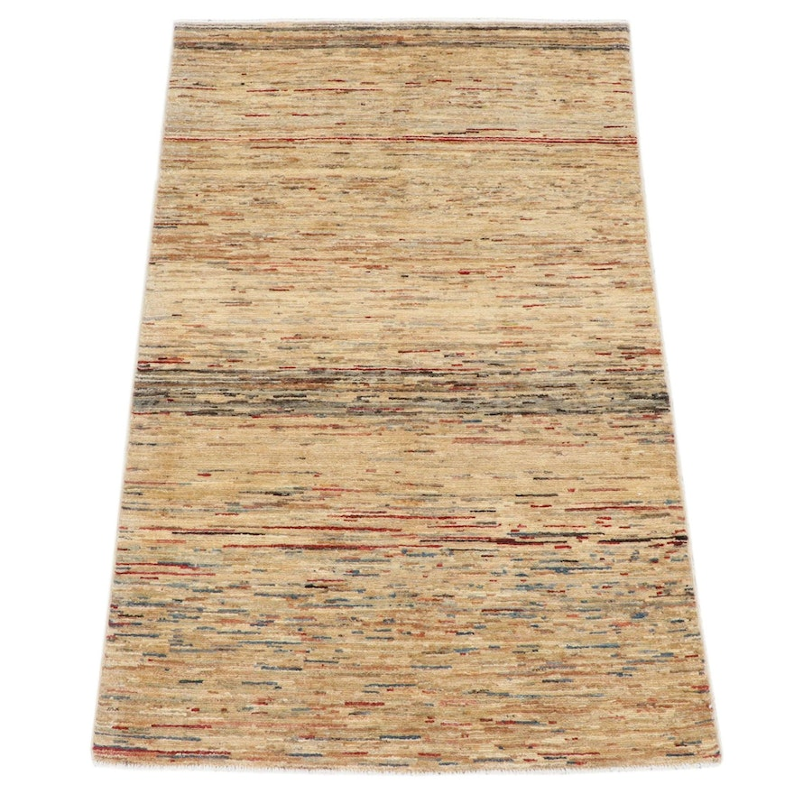 3'8 x 5'11 Hand-Knotted Afghani Gabbeh Rug