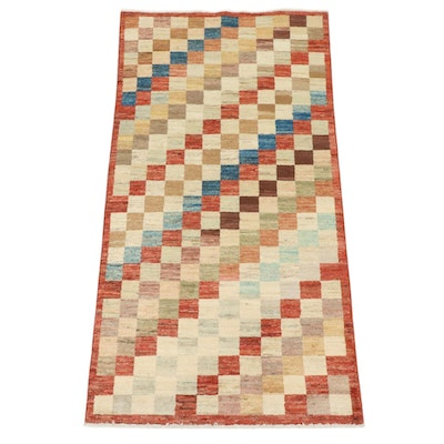 3'4 x 6'5 Hand-Knotted Afghani Gabbeh Rug