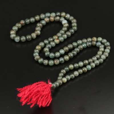Jadeite Mala Prayer Beads