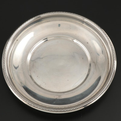Gorham Sterling Silver Pierced Rim Sandwich Plate, 1923