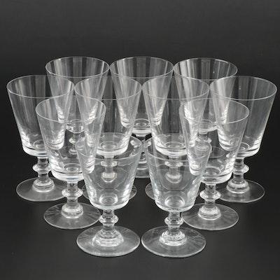 "Baccarat ""Embassy"" Crystal Goblets,  1879–1969"
