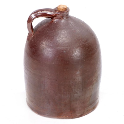 Brown Salt Glazed Stoneware Jug