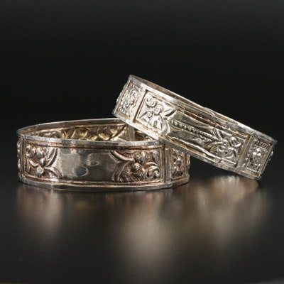 Tribal Embossed Bangle Bracelets