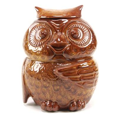 McCoy Pottery Ceramic Owl Cookie Jar, 1970s