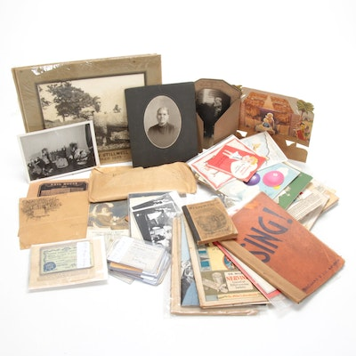 Ephemera Including Photographs and Certifications, 1930s to 1950s