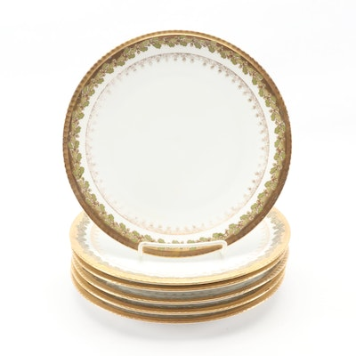 Hobbyist Painted Limoges Porcelain Plates, Early 20th Century