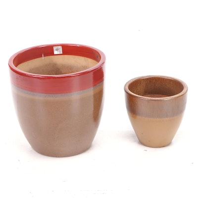 Dip Glazed Earthenware and Terracotta Planters