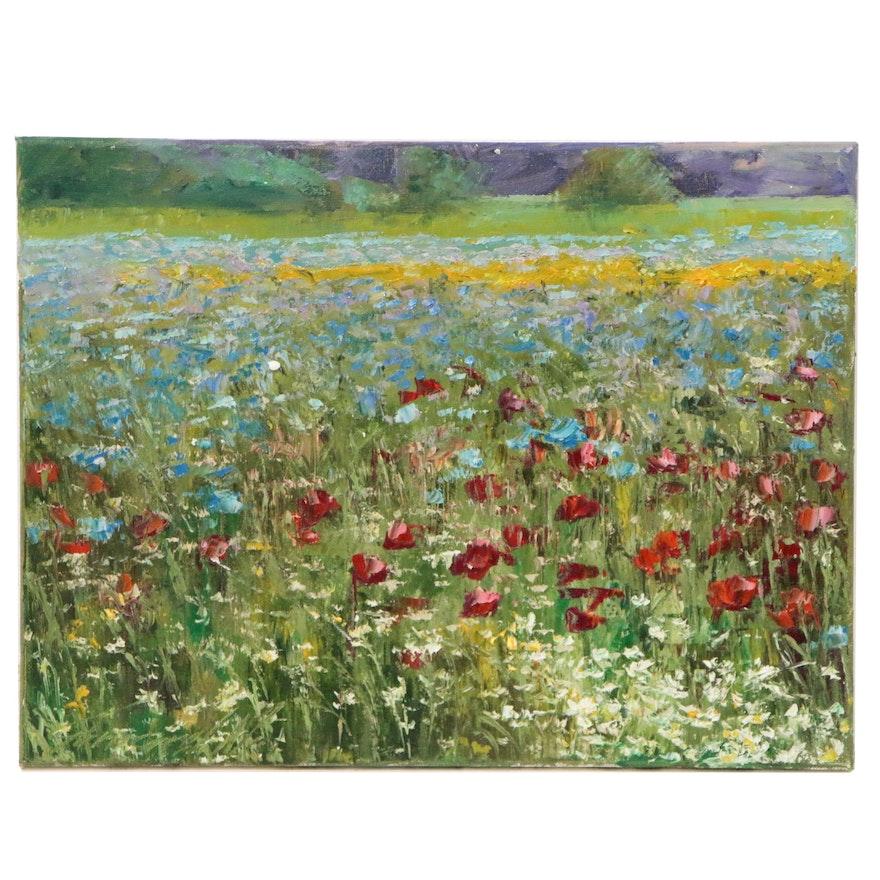 """Garncarek Aleksander Oil Painting """"Kwietna"""""""