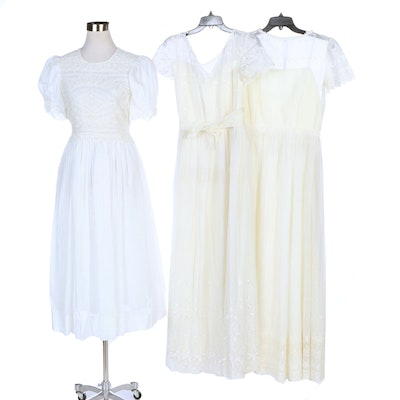 Eyelet, Swiss Dot and Lace Cotton Formal Dresses