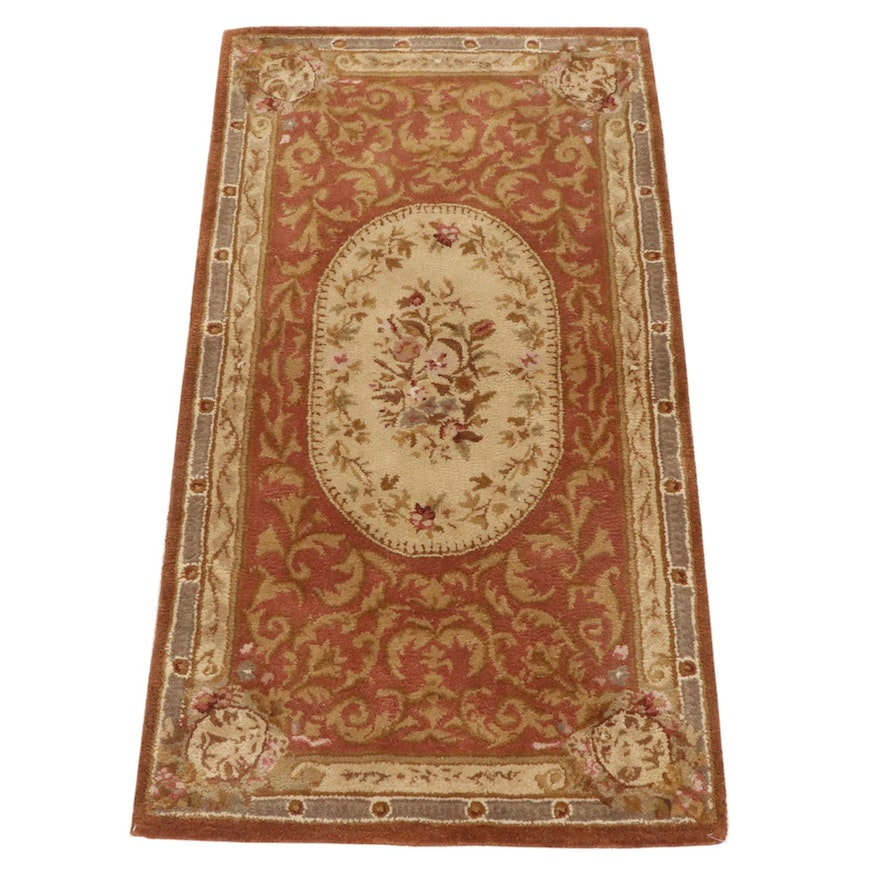 2'5 x 4'6 Hand-Tufted Sino-French Aubusson Style Rug