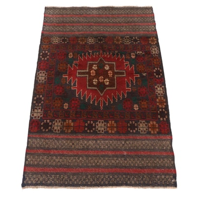 2'11 x 4'7 Hand-Knotted Afghani Tribal Baluch Rug