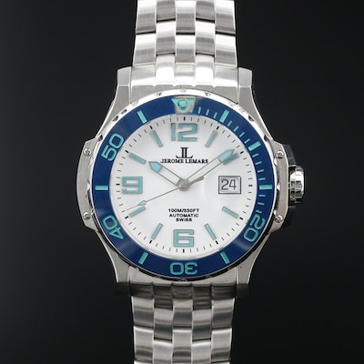 Jerome Lemars Chagall Stainless Steel Automatic Wristwatch