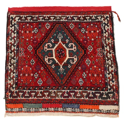 2'1 x 2'1 Hand-Knotted Persian Qashqai Rug