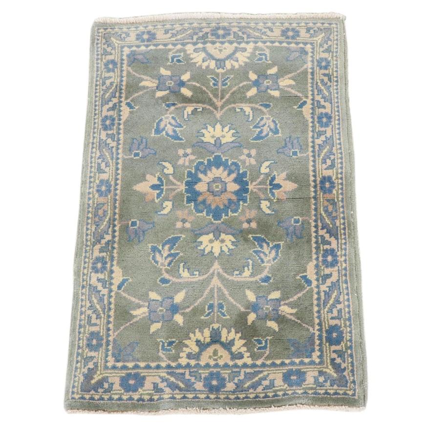 1'11 x 2'11 Hand-Knotted Afghani Turkish Oushak Rug