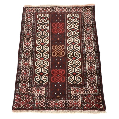 2'7 x 3'9 Hand-Knotted Persian Tribal Baluch Rug