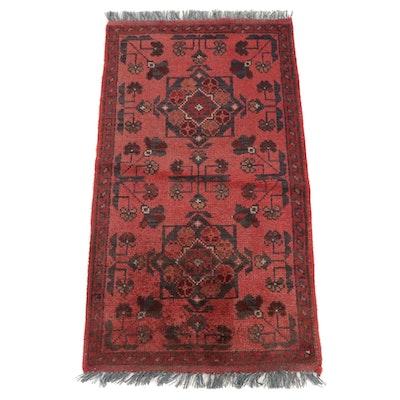 1'10 x 3'6 Hand-Knotted Afghani Tribal Kunduz Rug