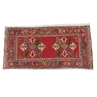 2'1 x 3'11 Handmade Afghani Tribal Soumak Pictorial Rug
