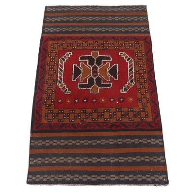 2'10 x 4'8 Hand-Knotted Afghani Tribal Baluch Rug
