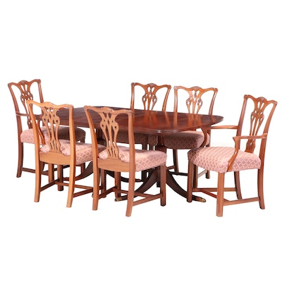 Chippendale Style Mahogany Dining Set, Mid to Late 20th Century