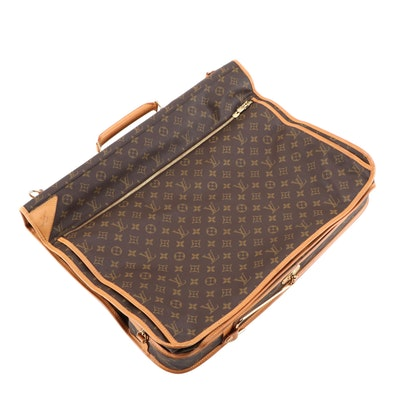 Louis Vuitton Garment Carrier Bag in Monogram Canvas and Vachetta Leather