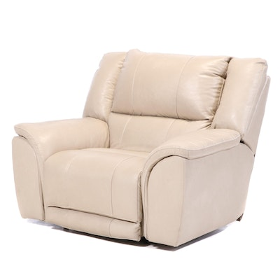 Leather Over-Sized Lounge Chair