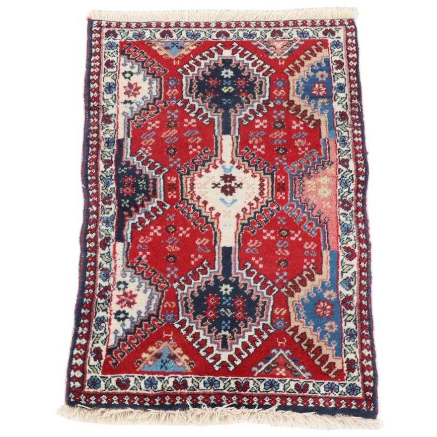 2'0 x 3'1 Hand-Knotted Persian Caucasian Accent Rug